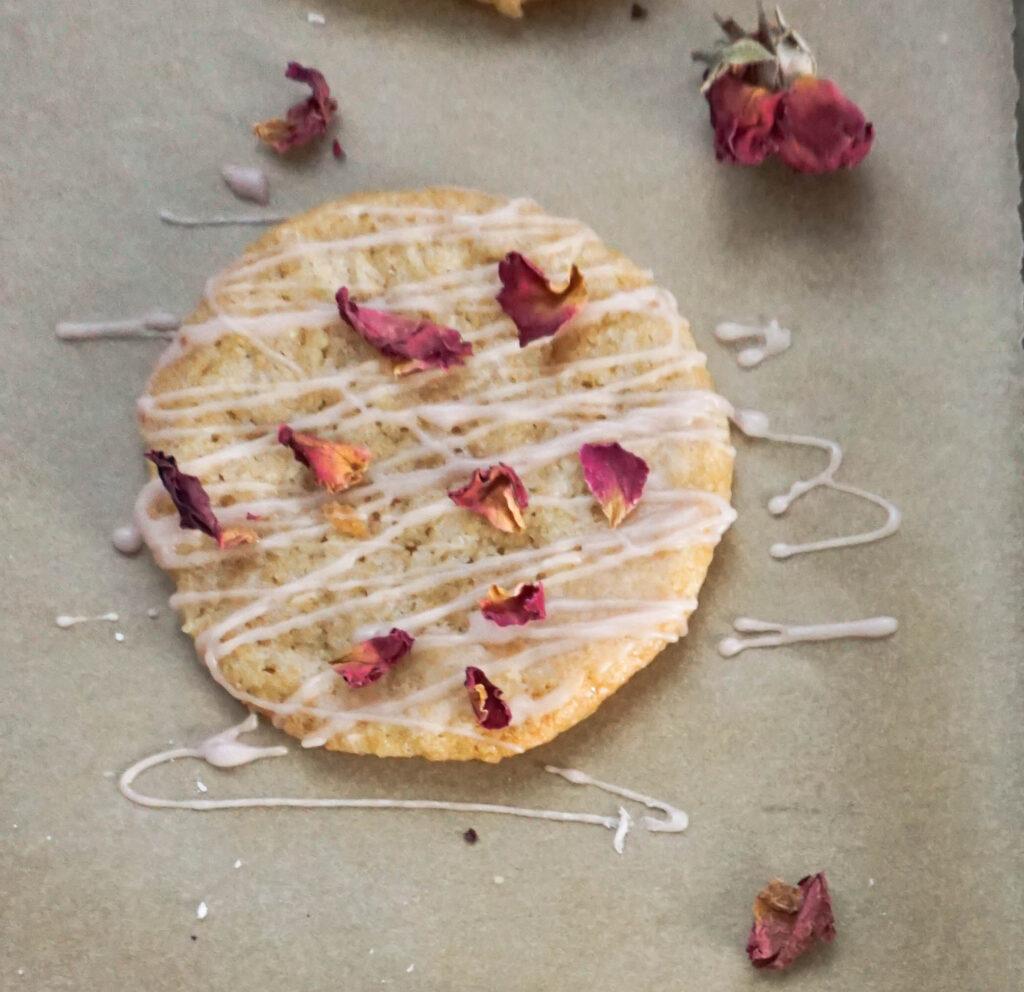 coconut cookie rose glaze