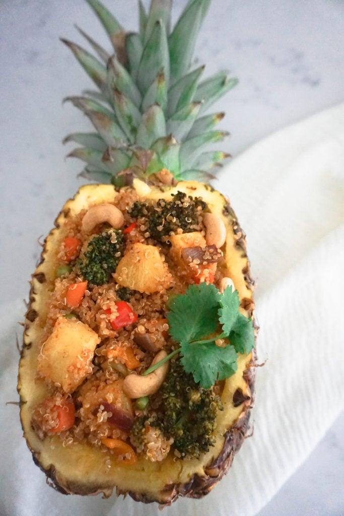 Thai pineapple quinoa fried rice