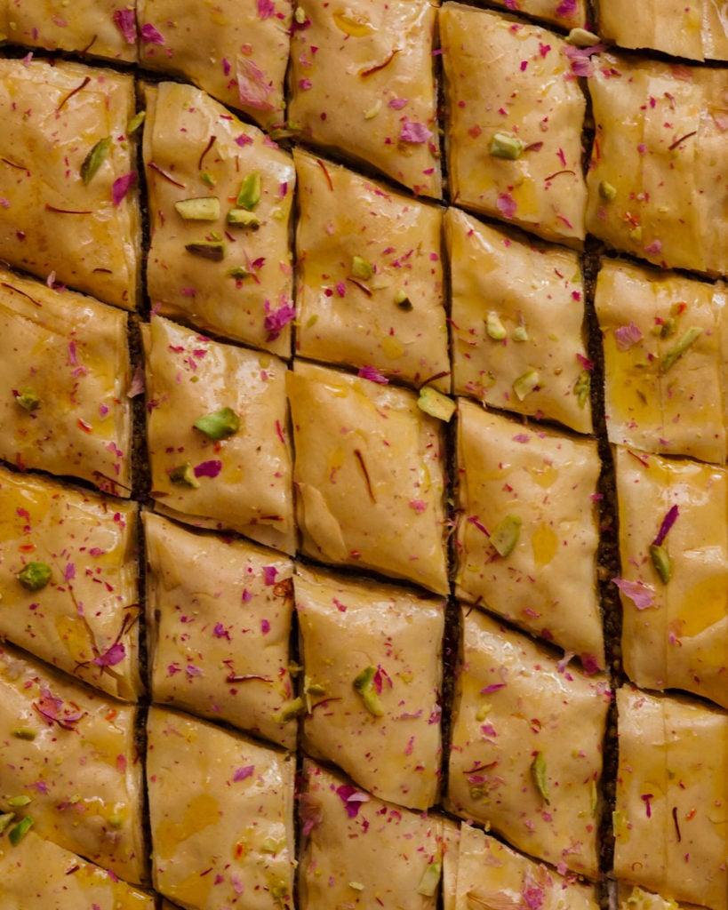 Indian fusion baklava
