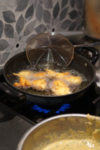 frying methi na gota