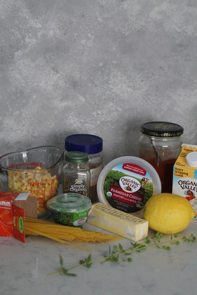 spicy pasta al limone ingredients