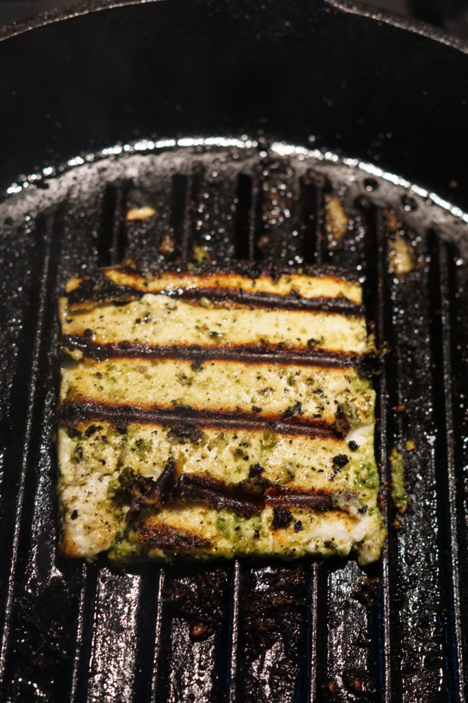 grilled garlic basil paneer recipe