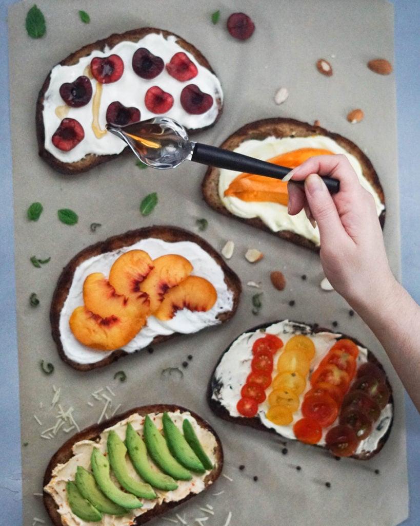 five breakfast toast ideas