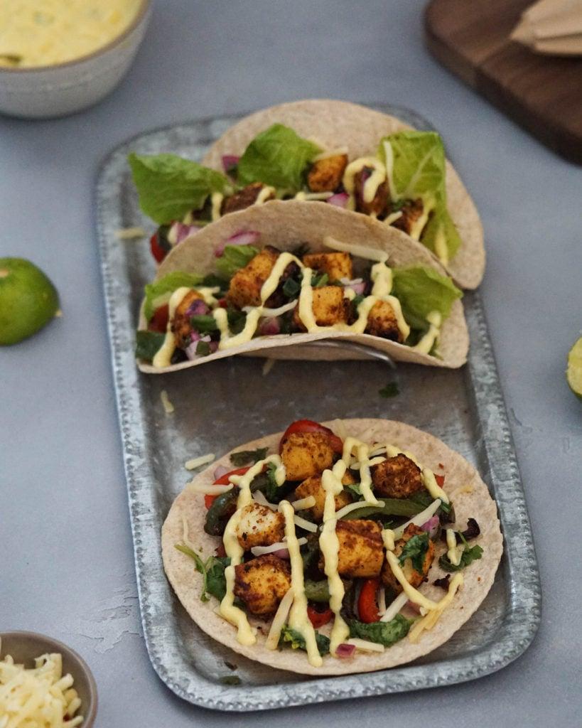 tandoori paneer tikka tacos