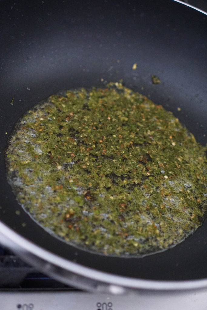 spices in oil