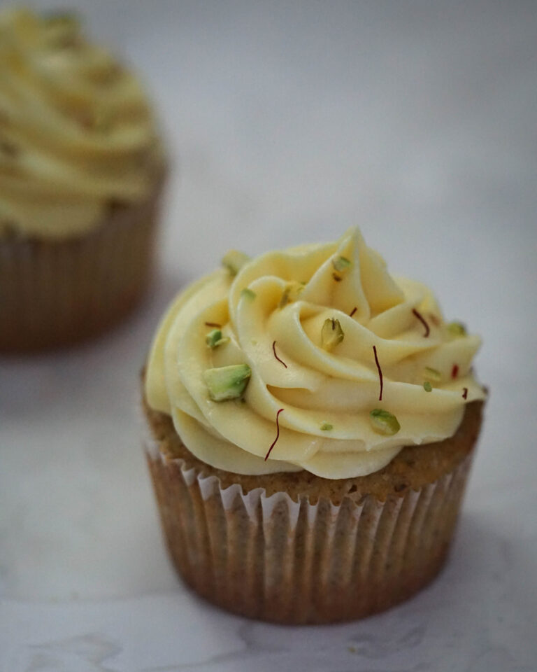 kesar pista cupcake indian fusion dessert