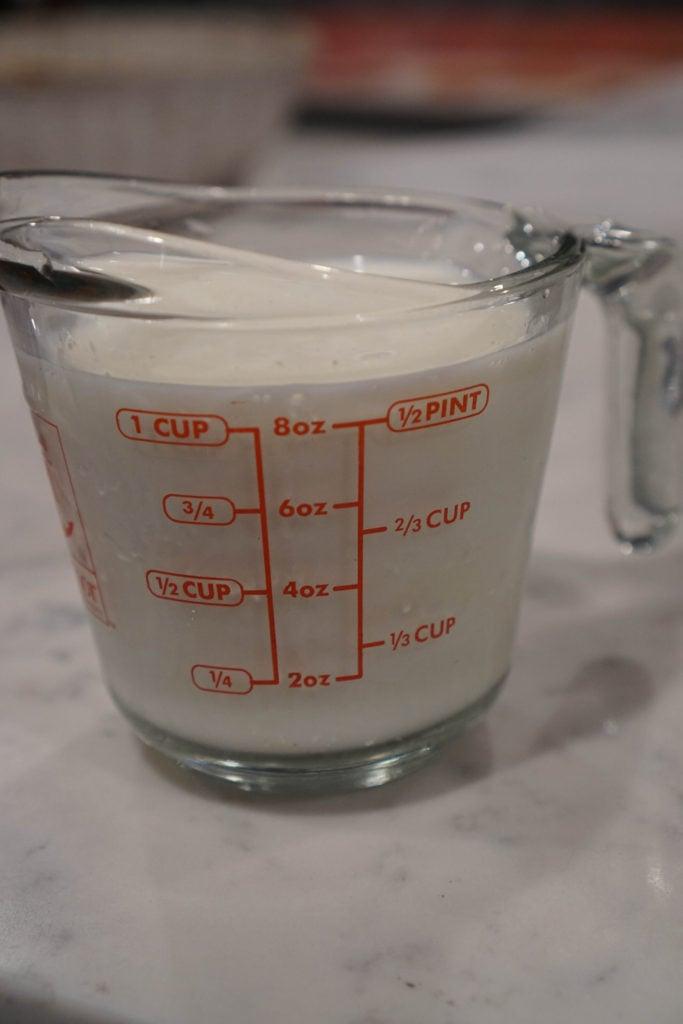 vinegar with milk