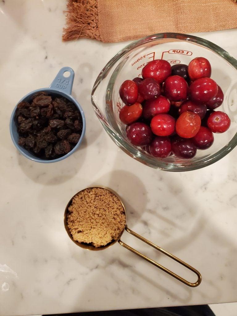 cranberry chutney ingredients