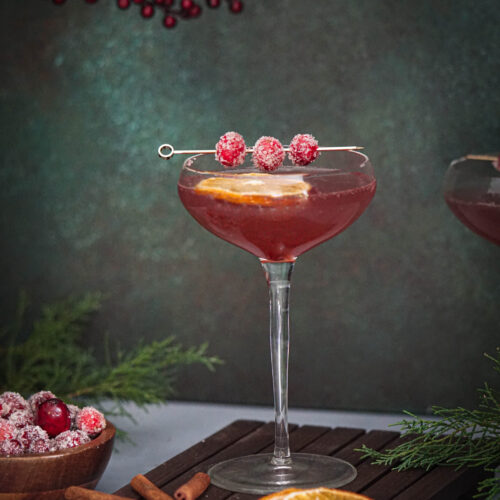 holiday drink gin fizz