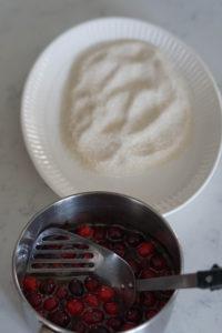 sugaring cranberries