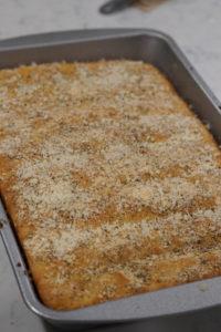 breadsticks with seasoning