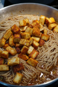 paneer and noodles