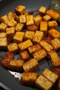 chilli paneer spiced in a pan