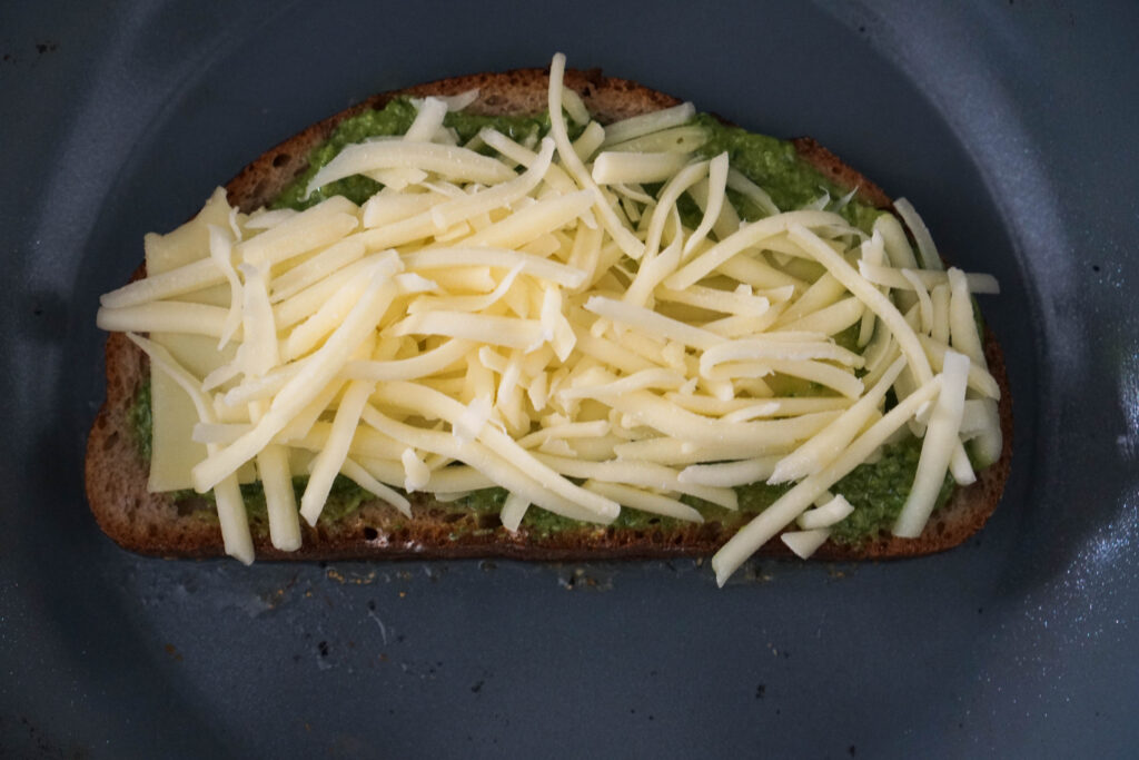 cheese and jalapeno pesto on bread