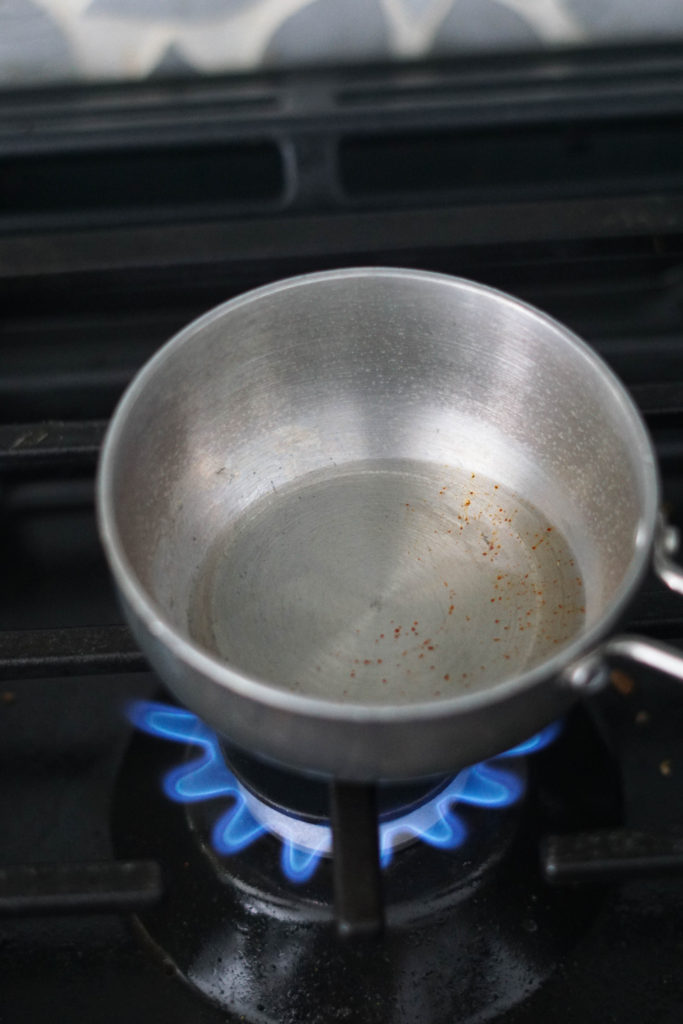 oil on stovetop