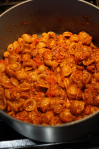 chole pasta with cheese