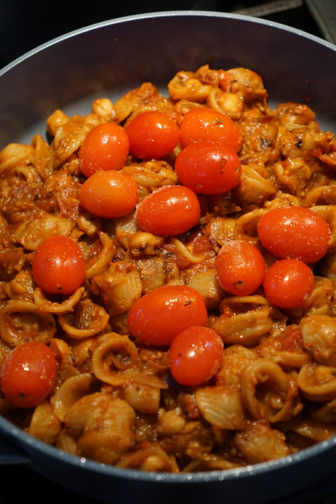 chole pasta process