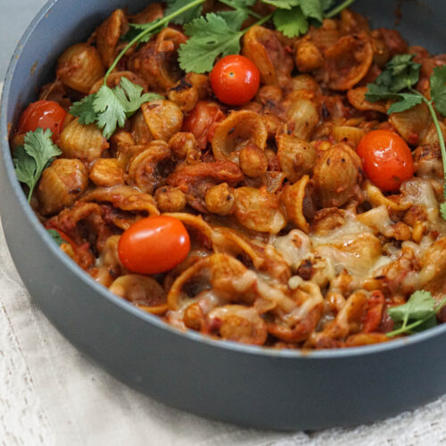 spicy indian fusion pasta