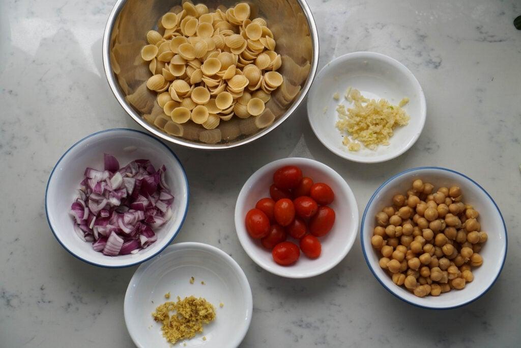 chole pasta spicy Indian pasta ingredients