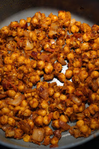 chole cookign in a pan