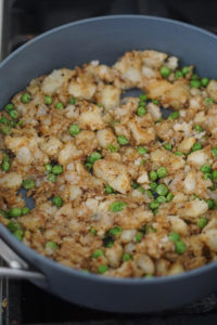 samosa filling in a pan