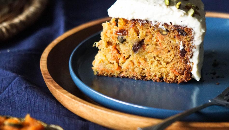 indian carrot cake gajar ka halwa cake with frosting