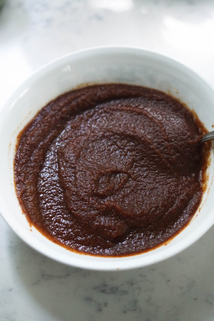 apple butter chutney in a bowl