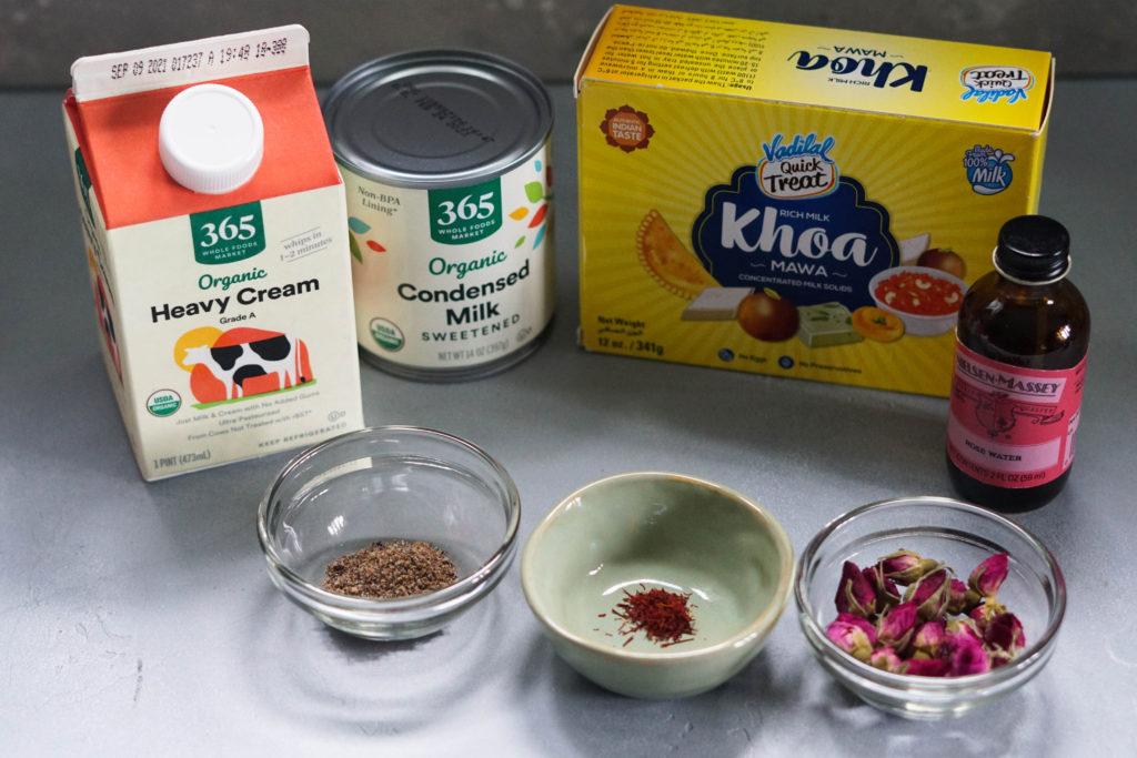 Gulab jamun ingredients