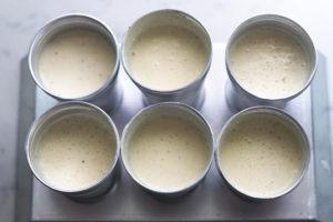 Mawa kulfi with khoya in kulfi molds.