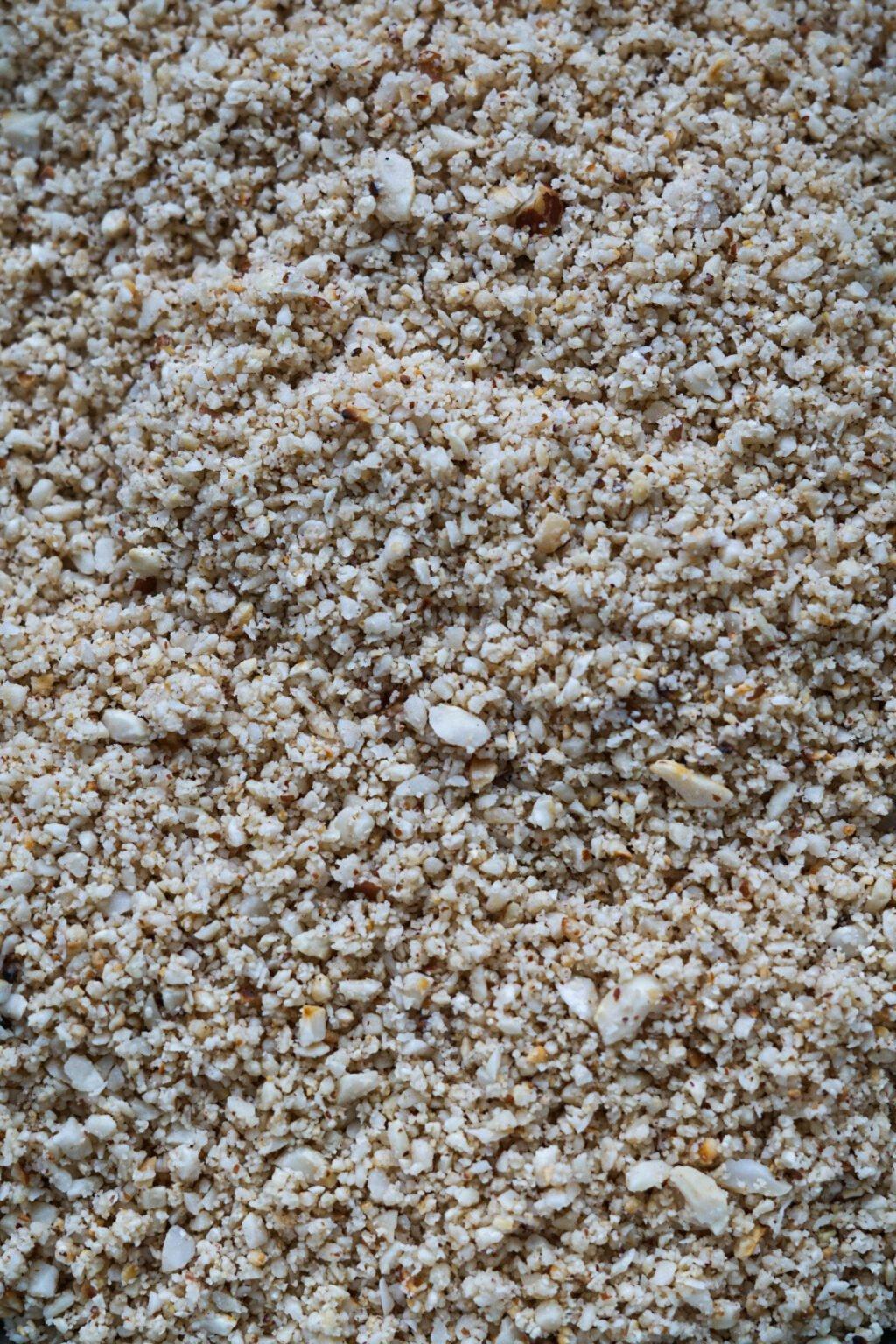 Ground roasted peanuts.
